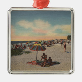 Pass-a-Grille Beach, Florida - Sunbathers on Metal Ornament