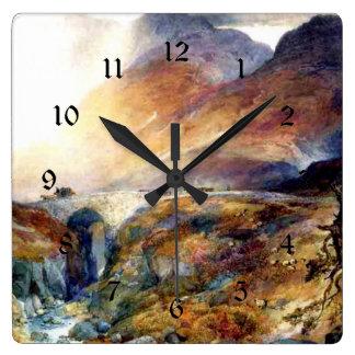 Pass at Glencoe, Scotland fine art painting Clock