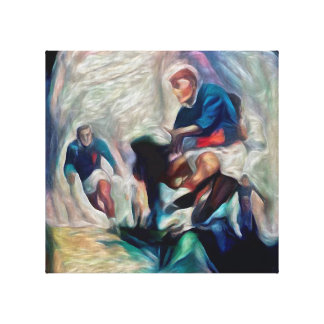 Pass It! - Rugby Art On Canvas