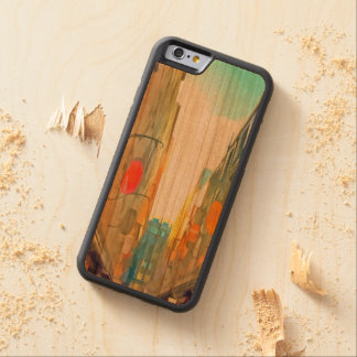 Passage between colorful buildings carved cherry iPhone 6 bumper case