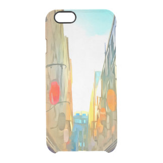 Passage between colorful buildings clear iPhone 6/6S case