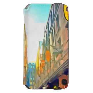 Passage between colorful buildings incipio watson™ iPhone 6 wallet case
