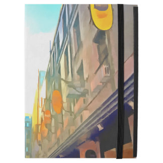 """Passage between colorful buildings iPad pro 12.9"""" case"""