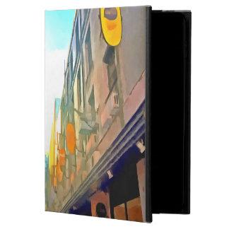 Passage between colorful buildings powis iPad air 2 case