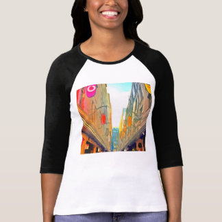 Passage between colorful buildings T-Shirt