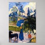 Passage de Bretagne by Eugène Henri Paul Gauguin Poster