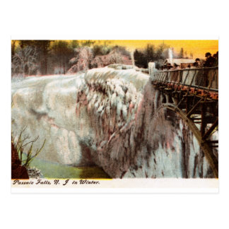 Passaic Falls in Winter, Paterson, NJ Vintage Postcard