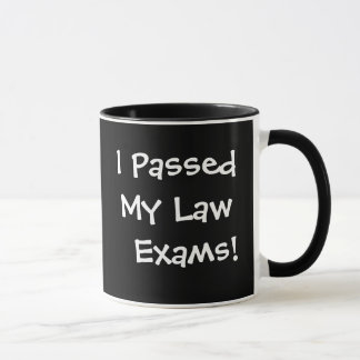 Passed My Law Exams Success Celebration Quote Mug