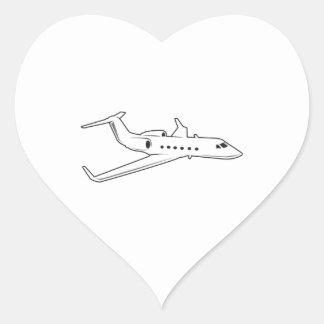 PASSENGER AIRPLANE HEART STICKER