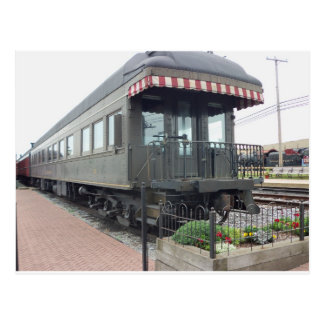 Passenger Car.  Strasburg Railroad Postcard