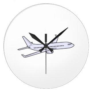 Passenger Jet Large Clock