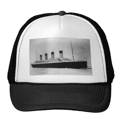 Passenger Liner Steamship RMS Titanic Trucker Hats