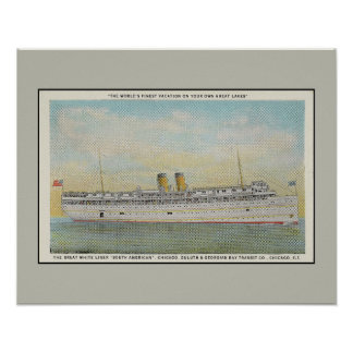 Passenger Liner The South American, Chicago Duluth Print