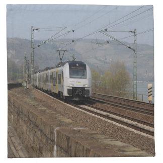Passenger train in Niederheimbach Napkin