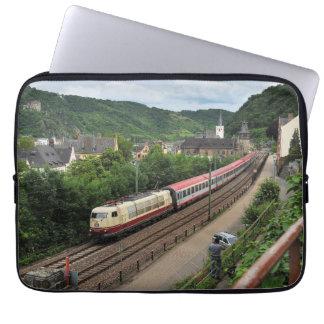 Passenger train in St. Goar Laptop Sleeve
