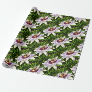 Passiflora Close Up With Garden Background Wrapping Paper