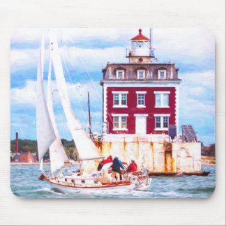 Passing Ledge Light Mouse Pad