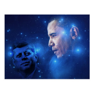 Passing of the Torch, John F. Kennedy Barack Obama Postcard