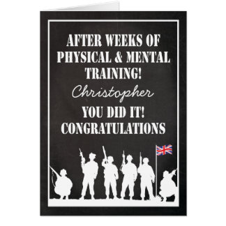 Passing Out Parade, British Army Soldiers Congrats Card