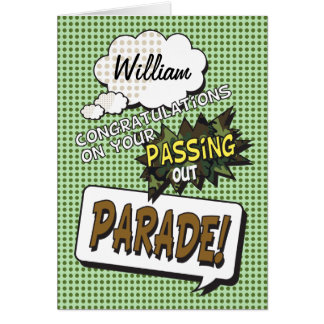 Passing Out Parade Camouflage Comic Strip Congrats Greeting Card