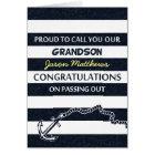 Passing Out Parade Navy Sailor Grandson Congrats Card