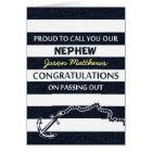 Passing Out Parade Navy Sailor Nephew Congrats Card