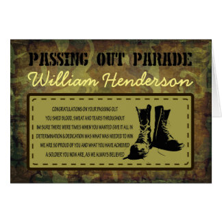 Passing Out Parade Rustic Poem Boots Card