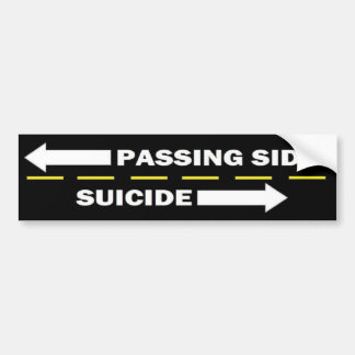 Passing side bumper sticker