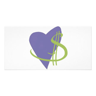Passion2Pension Heart Photo Card Template