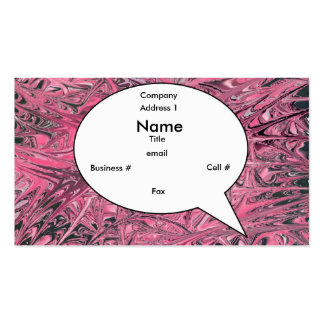 Passion Bubble Card (Futura) Pack Of Standard Business Cards