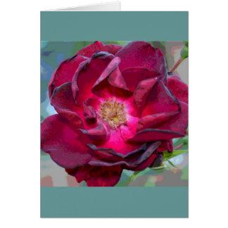 Passion Burgandy Flower Card