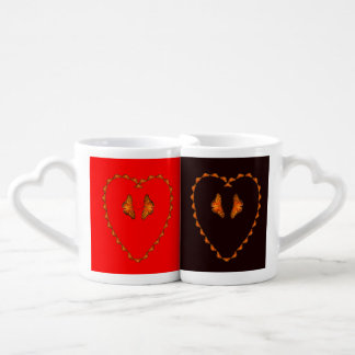 Passion butterflies in heart - Dance with me Coffee Mug Set