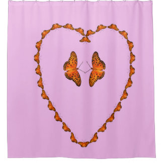Passion butterflies in heart - Dance with me Shower Curtain