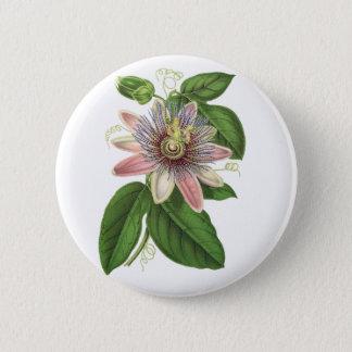 Passion flower 6 cm round badge