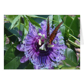 Passion Flower and Butterfly Card