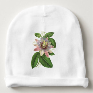 Passion flower baby beanie