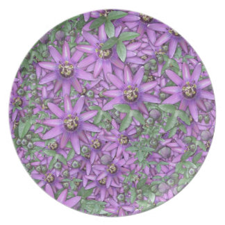 Passion Flower Explosion Party Plates