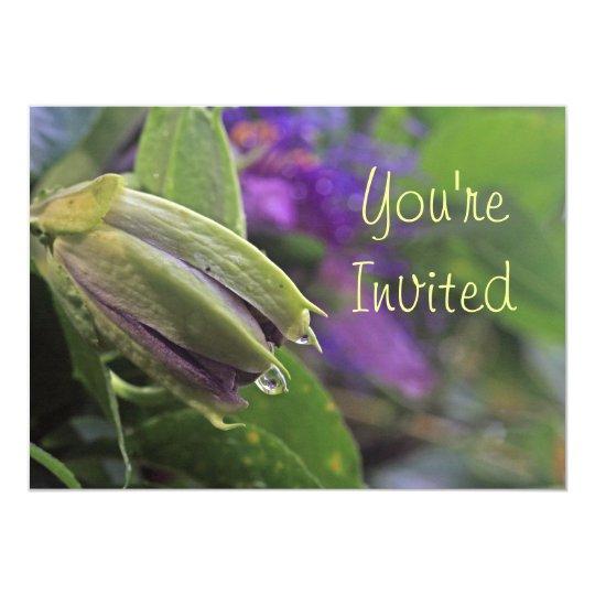 Passion Flower Invitation