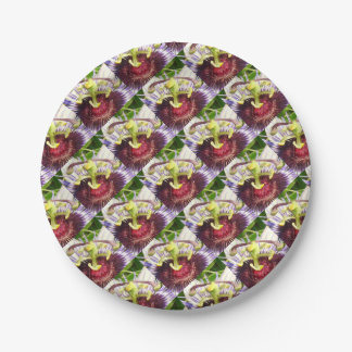 Passion Flower Macro Paper Plate