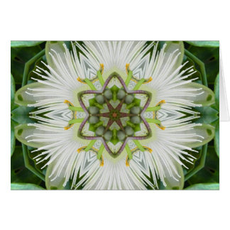 Passion Flower Mandala Card
