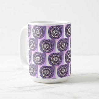 Passion Flower Purple Pattern Coffee Mug