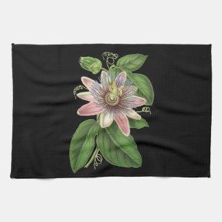 Passion flower tea towel