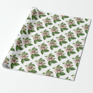 Passion flower wrapping paper