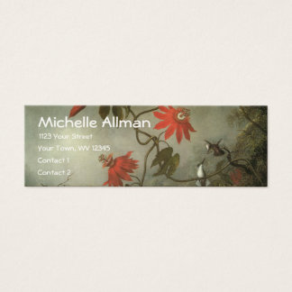 Passion Flowers and Hummingbirds Profile Cards