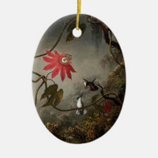 Passion Flowers Double-Sided Ceramic Oval Decoration
