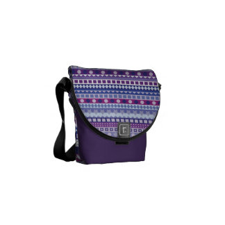 Passion for Purple Tribal Modern Zig Zag Courier Bag