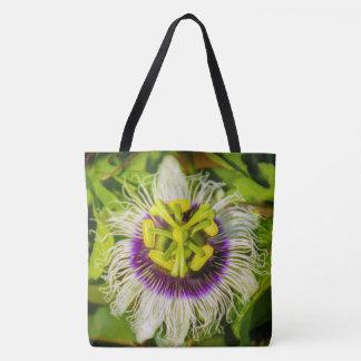Passion Fruit Flower, Kauai Hawaiian Beach Bag