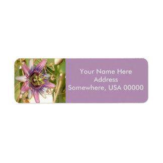 Passion Fruit Flower Return Address Labels