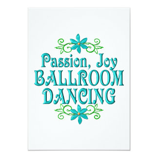 Passion Joy Ballroom Dancing 13 Cm X 18 Cm Invitation Card