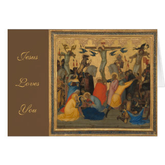 Passion of Jesus Christ Crucifixion Painting Card